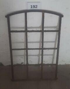Altes Originales Dänisches Rundbogen Gussfenster H.: 86 cm B.: 59 cm