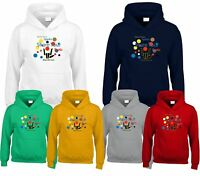 Share The Love Children Kids Hoodie Mix Coloured Dotty Girls Boys Hooded
