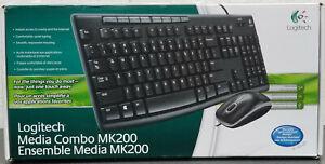 Logitech Media Combo MK 200 Wired Keyboard &n Mouse  920-002714