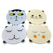 Set of 4 Cat Coasters Set Wooden Shabby Chic Vintage Cute Kitten Unique Faces