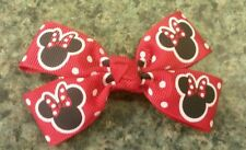 Disney minnie mouse red and black hairbow toddler baby girl nonslip clip