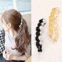 Beautiful Pearls Hairpins Hair Jewelry Banana Clips Headwear Hair AccessoriJO