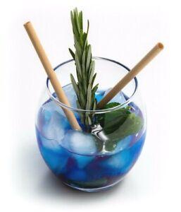 100pcs Natural Drinking Reed Straws - Disposable Reusable Cocktails Wedding Bar
