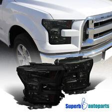 2015-2017 Ford F150 F-150 Truck Pickup Headlights Amber Corner Lamps Smoke Pair