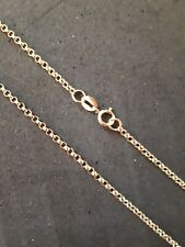 "9CT YELLOW GOLD ROUND BELCHER CHAIN 16"" WEIGHING 2.6 GRAMS HALLMARKED"