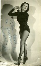 """Simone BICOLFI"" Photo originale dédicacée (STUDIO SINCLAIR Marseille 1953)"