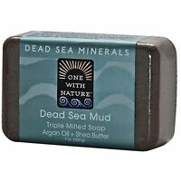 ONE WITH NATURE DEAD SEA MINERALS DEAD SEA MUD TRIPLE MILLED SOAP -ARGAN/SHEA