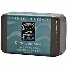 ONE WITH NATURE DEAD SEA MINERALS DEAD SEA MUD TRIPLE MILLED SOAP