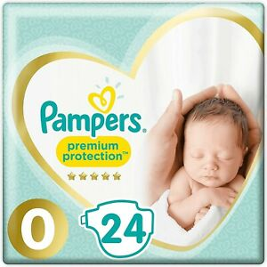 Pampers Premium Protect Micro Size 0 Newborn Nappies pack Size 24