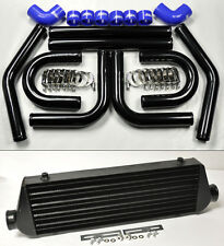 "Universal High Quality Black Intercooler 2.5"" 8pc U Piping Kit Aluminum Blue Sub"