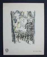 Willi Geiger Überfall Original Lithographie Berliner Secession lithograph