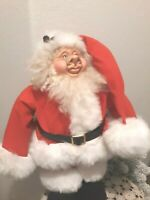 Vtg Applause Santa Claus Pig Face Sculpture Plush Doll Figure GNOME ODD RARE 21""