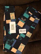 New LuLaRoe Disney OS Legging Mickey Minnie Navy Blue with Green Fast Shipping