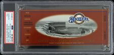 2000 Brewers vs Reds Final County Stadium Game Full Ticket (PSA Authentic)