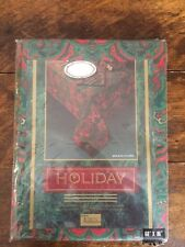 """Vintage Tobin Holiday Classic Christmas Tablecloth 60"""" X 86"""" In Original Package"""