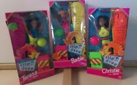 1997 lot of 3 Speedo Flip 'n Dive Barbie Doll Teresa Christie New Mattel