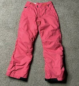 Columbia Snow Bogaboo Pants Pink Snow Girls Youth Ski Size L 14 16