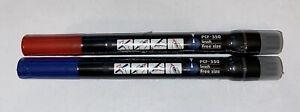 Uni Posca PCF-350 Paint Marker Pen Brush Tips   1 Blue/1 Red *Brand New/Sealed