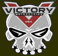 "XL VICTORY MOTORCYCLES EMBROIDERED BACK PATCH ~10-3/4"" x 10-1/4"" SKULL AUFNÄHER"