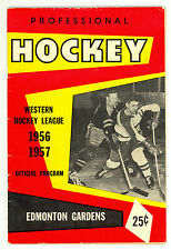 HTF 1956-57 Edmonton Flyers WHL Hockey Program vs. Vancouver Canucks