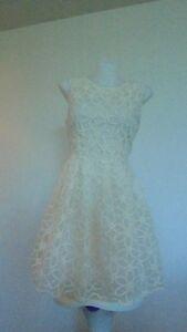 Mossman floral white/creme dress Size 10/12