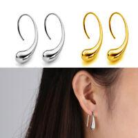Wedding 925 Silver Ear Stud Elegant Jewelry Tear Drop Pattern Hook Earrings