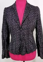 ALBERTO MAKALI Womens Sz 4 Crinkle Jacket/Blazer Lightweight Lined