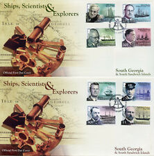 South Georgia & Sandwich Isl 2015 FDC Ships Scientists Explorers 3 Covers Stamps