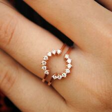 Wedding Ring Solid 10K Rose Gold Classic 1/2 Ct Enhancer Wrap Guard Engagement