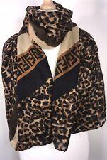 Designer Inspired Scarf Pashmina Leopard Print Brown Oversized Long Trend NEW