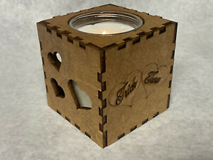 Custom names heart love natural soy candle scented crackle wood wick