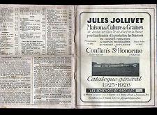 """CONFLANS-SAINTE-HONORINE (78) CULTURE de GRAINES """"Jules JOLLIVET"""" Catalogue 1925"""