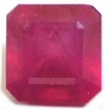 Emerald Shaped Translucent Loose Rubies not Star Ruby