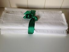 Vintage Antique Pure Irish Linen Single Bed Set Of Sheets Pure Cotton