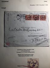 1940 Amsterdam Netherlands Occupation Censored Cover To Lisbon Portugal