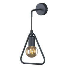 TRIANGLE Geometric Black Metal Wall Light Industrial Vintage Scandinavian Retro