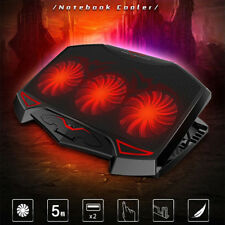 """Ares N7 17"""" inch Laptop Cooling Pad Stand With 3 Fans for, Red Led Light"""