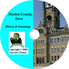 MARION County, Iowa - History & Genealogy - Knoxville Pella IA  Ancestry CD DVD
