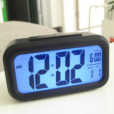 Electronic Digital LED Alarm Clock Arc Radio Desktop Snooze Clocks Thermometer
