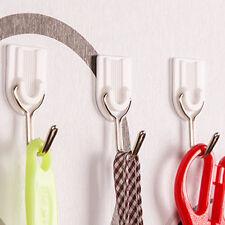 6Pcs PP+metal Self Adhesive Hooks Stick On Wall Hanging Bathroom Kitchen Hanger