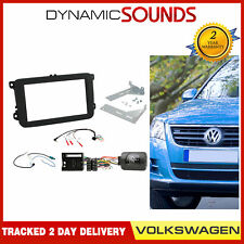 Double Din Stereo Fascia Steering Aerial Kit for VW Volkswagen Golf, EOS, Tiguan