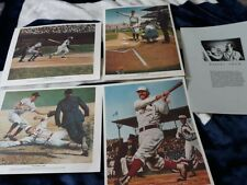 1976 Robert Thom GREAT MOMENTS IN BASEBALL 4 Print Set RUTH  AARON  by Chevrolet
