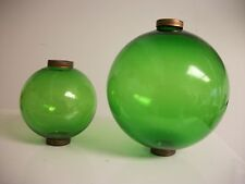 4.5'' and 6.5'' Green Glass Balls for weathervanes Or Lightening Rods