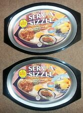 Lot Pair 2 Nordic Ware Sizzler Server Steak Plates Serv A Sizzle Hot Cold Food