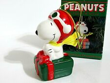 Snoopy Peanuts Charlie Brown Willitts Ceramic Christmas Ornament Figure 1987