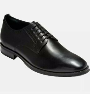 Cole Haan Jefferson Grand 2.0 Plain Waterproof Oxford Black C30627 Men's 10.5 US