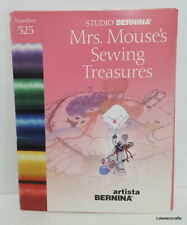 Studio Bernina Embroidery Design Card #525 Mrs. Mouse'S Sewing Treasures - Used