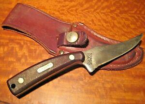 Vintage Schrade USA Old Timer 152OT Sharpfinger  Knife & Leather Sheath