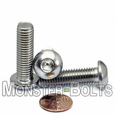 10mm x 1.50 x 35mm - Qty 10 - A2 Stainless Steel BUTTON HEAD Screws M10-1.5 x 35