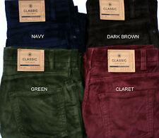 Ex M&S Mens Jeans Regular Leg Cords Trousers Pants Straight Fit Marks Spencer UK